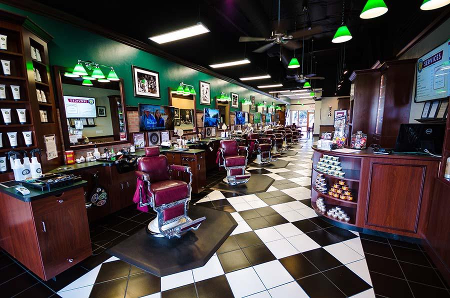 Interior of V's Barbershop