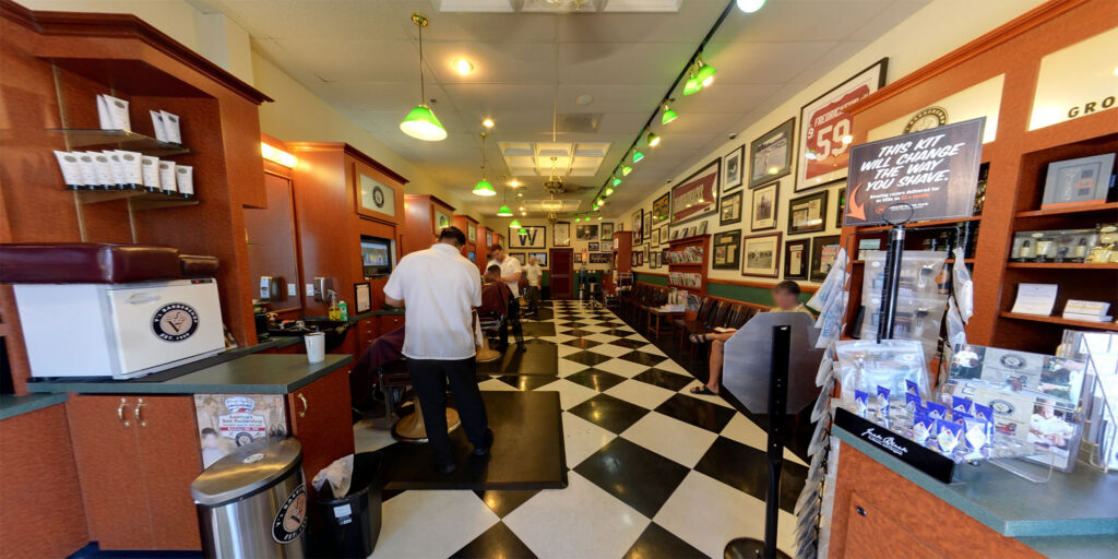 Interior View of V's Barbershop Arcadia