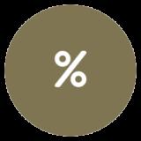 icon representing percentage