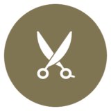 icon representing scissors